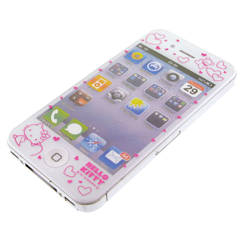 Hello Kitty Screen Protector for Apple iPhone 44S  Pink
