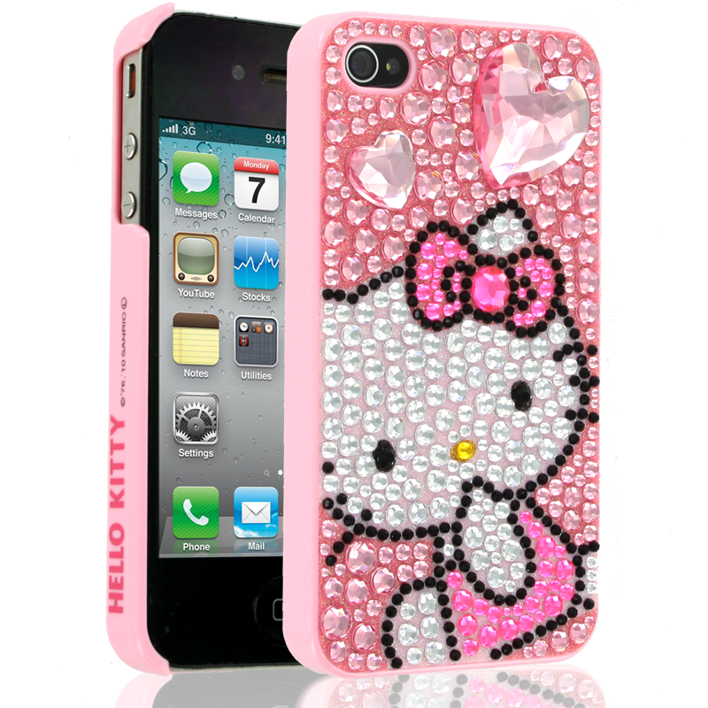 Hello Kitty Case for Apple iPhone 44S  Pink  Hello
