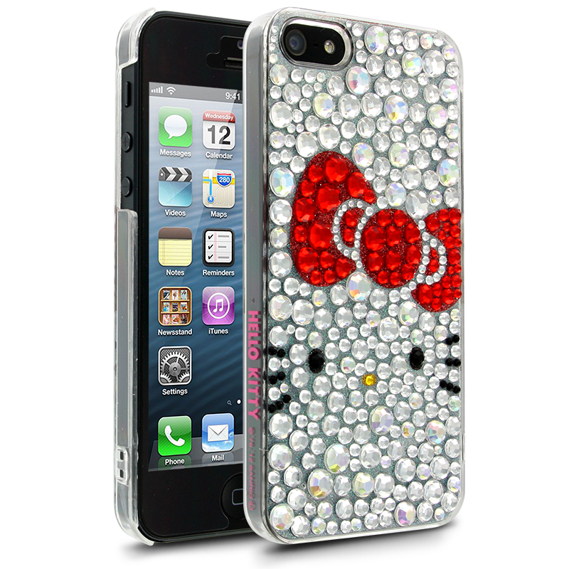 Hello Kitty iPhone 5 Case  White Jewelry Case for Apple