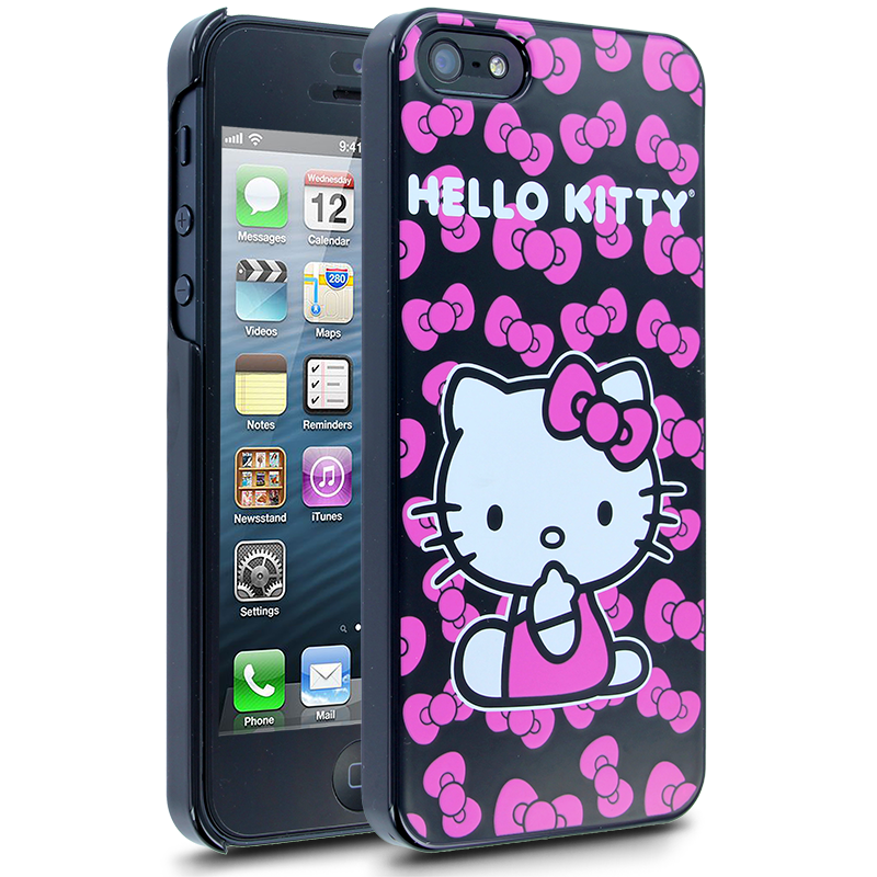 Hello Kitty Bows Case for Apple iPhone 5  Pink  Hello