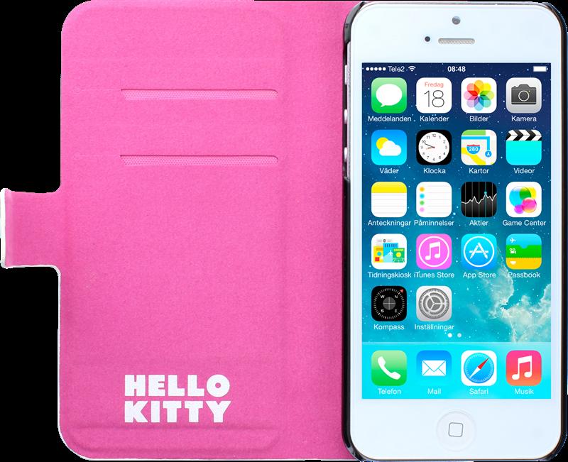 Hello Kitty Wallet Stripe iPhone 55S Lommebokfutteral