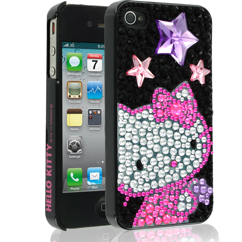Hello Kitty iPhone 4 Case with Stars for Apple iPhone 4