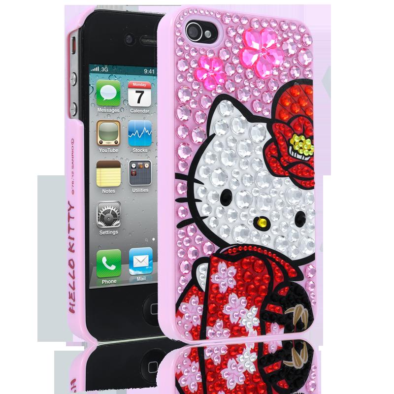 Hello Kitty Kimono Case for Apple iPhone 44S  Pink