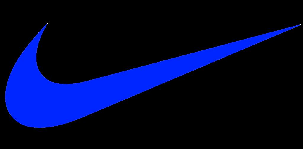 Blue nike Logos