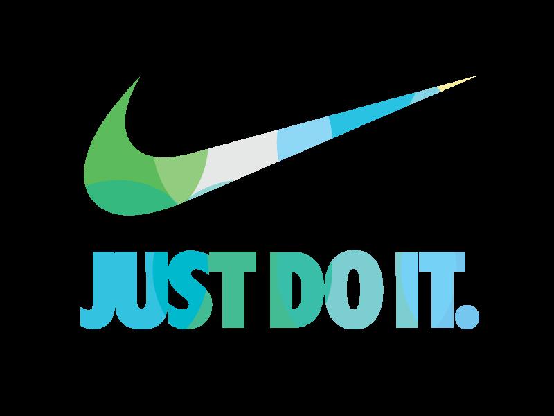 Nike logo V2  colorful effect by UIUX Designer  Mounir