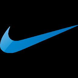 Web 2 blue nike icon  Free web 2 blue site logo icons