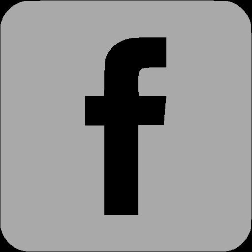 Dark gray facebook 3 icon  Free dark gray social icons
