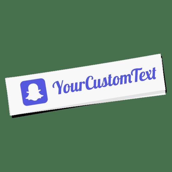 Custom Snapchat Name Sticker  Decals for Cars  VINYL STATUS