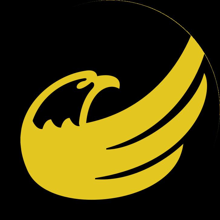 Clipart  logocircle libertarian eagle remix  black on