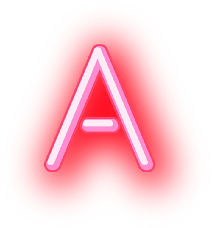 neon frame png  A Letters Neon Glowing Words Ela Grammer