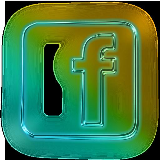 Glowing Green Neon Icon Social Media Logos Facebook Logo