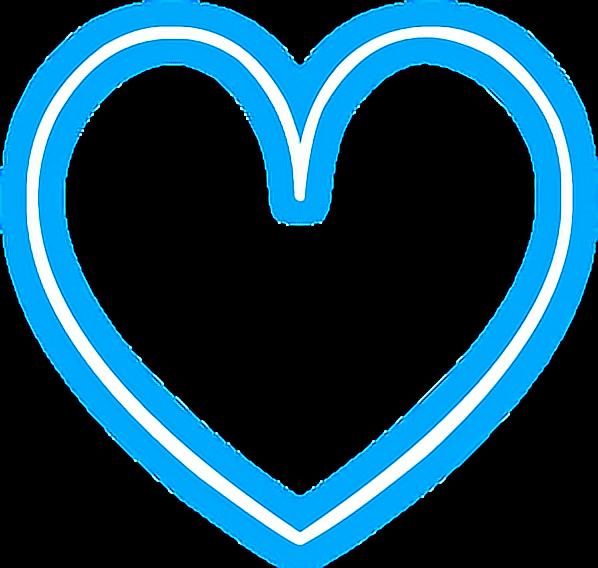 heart love neon snapchat blue glowing