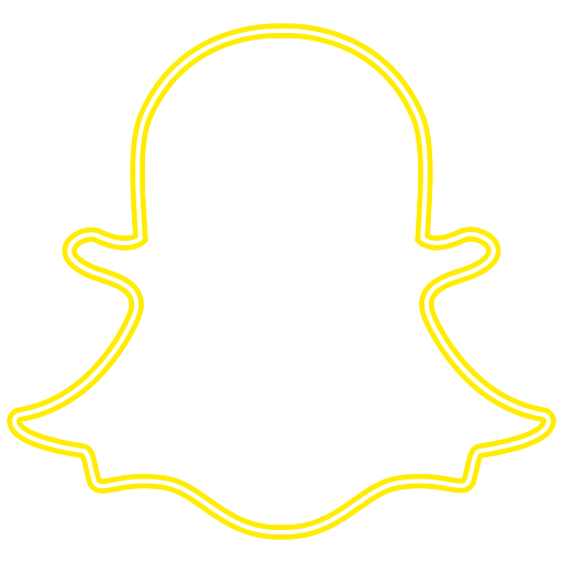 Bell logo snapchat social Icon Free of Neon Icons