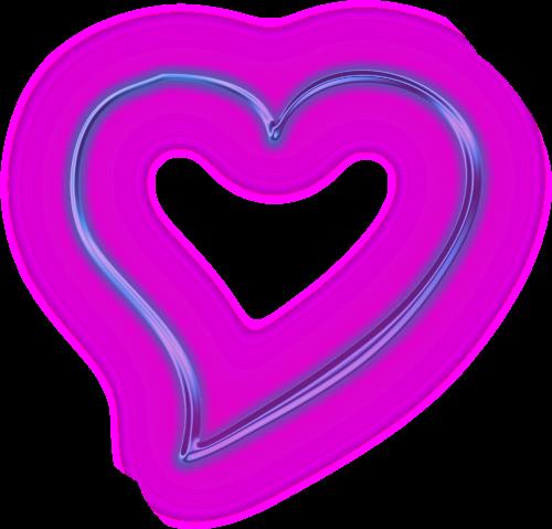 purple heart snapchat neon glowing
