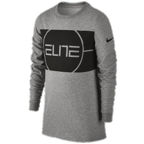 Nike Elite Logo Long Sleeve TShirt  Boys Grade School