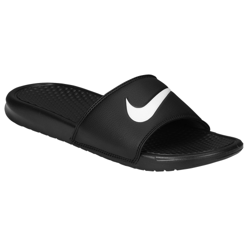 Nike Benassi Swoosh Slide  Mens  Casual  Shoes  Black