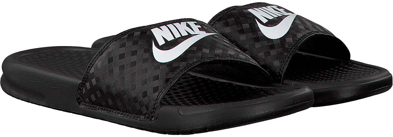 Black NIKE Flip flops BENASSI JDI WMNS - Omoda.com - Nike Logo Flipped