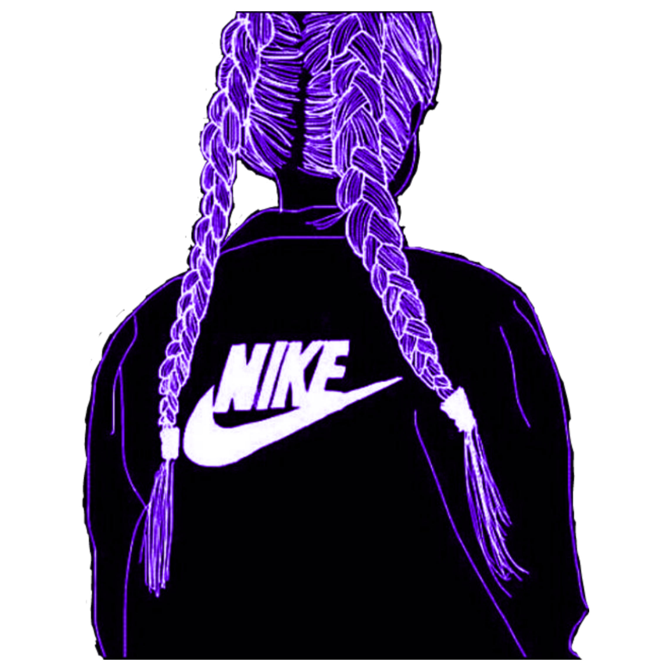 freetoedit remix girl NIKE logo sticker... - Nike Logo Girls