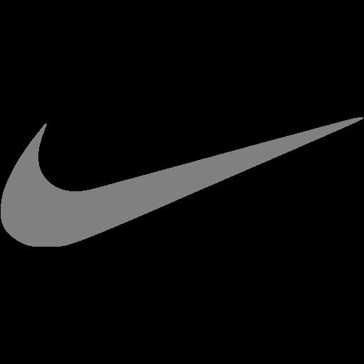 Gray nike icon  Free gray site logo icons