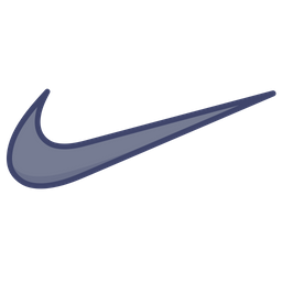 Nike Logo Icon of Colored Outline style  Available in SVG