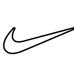 Nike Swoosh Logo Outline Sketch Coloring Page