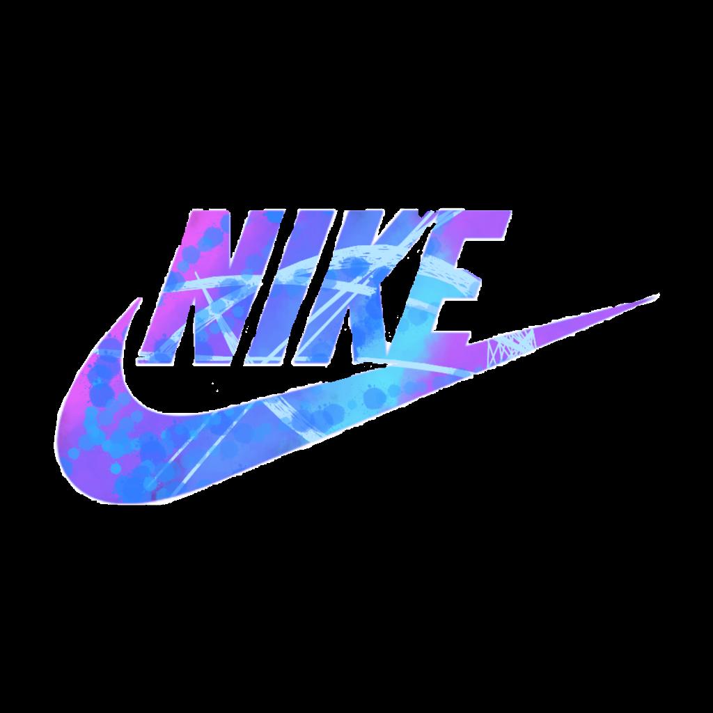 nike blue puprle tumblr useit trend freetoedit... - Nike Logo Sticker