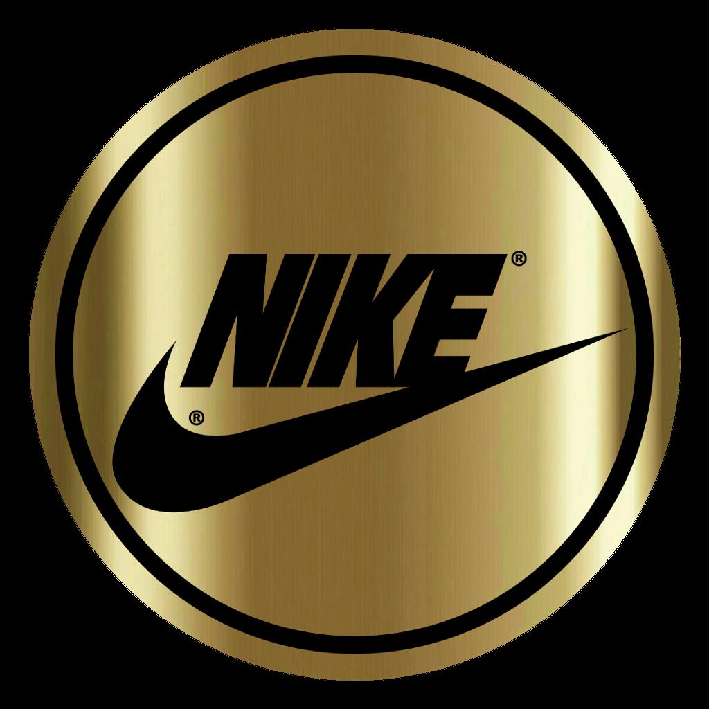 nike logo logotipo logotype sports esportes gold golden... - Nike Logo Sticker