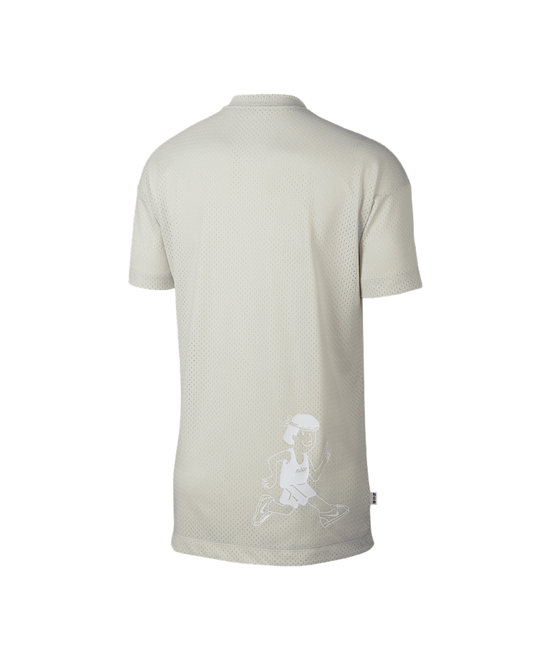 Nike Logo Print Tee TShirt Grau F072  Lifestyle