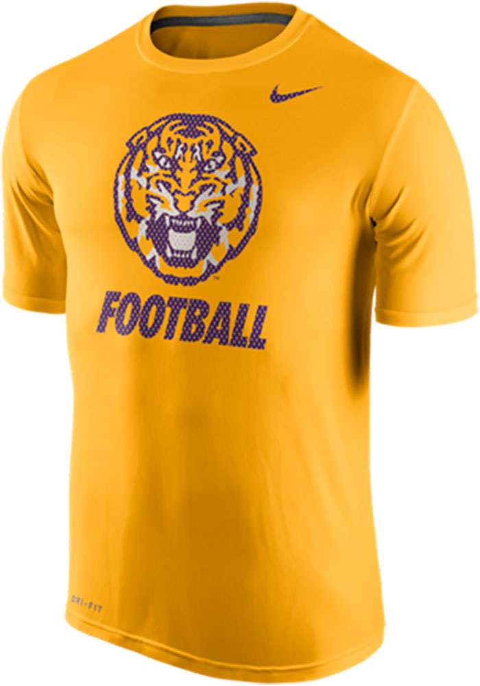 Nike LSU Tigers Gold 2015 Legend Logo Tee Short Sleeve T