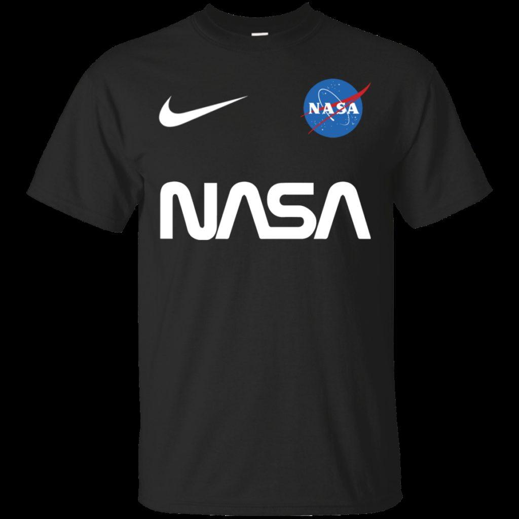 Nasa Astronaut logo Nike funny t shirt Cotton t shirt Men