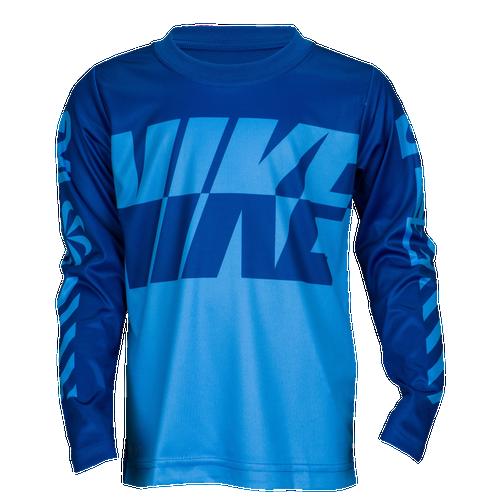 Nike Sublimated Multi Logo DriFIT LS TShirt  Boys