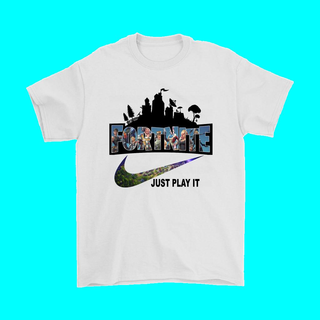 Fortnite Battle Royale X Nike Just Play It Logo T-shirt by ... - Nike Shirt Logo