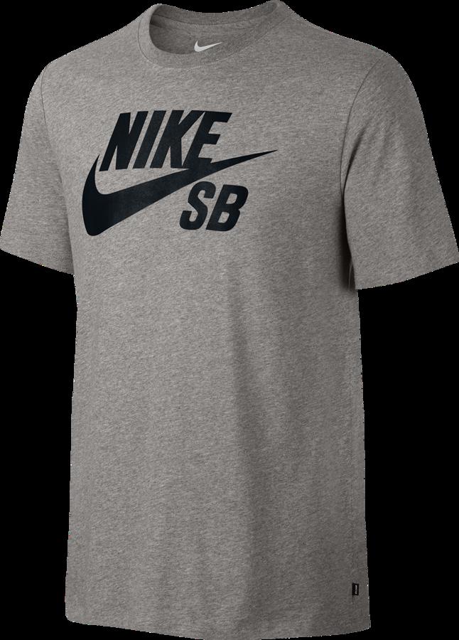 KOSZULKA NIKE SB Logo TShirt Dark Grey Heather  Black