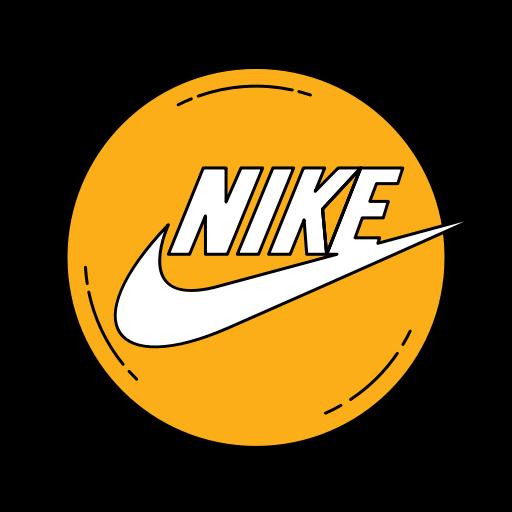 Fashion logo nike orange shoe shoes icon