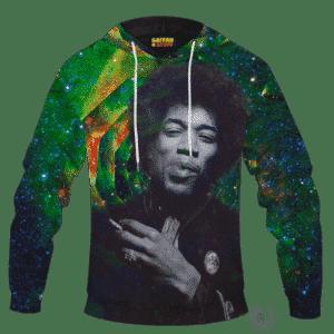 Trippy Galaxy Jimi Hendrix Smoking Joint 420 Marijuana