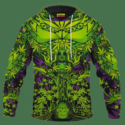 Parental Advisory Dope Content 420 Marijuana Pullover