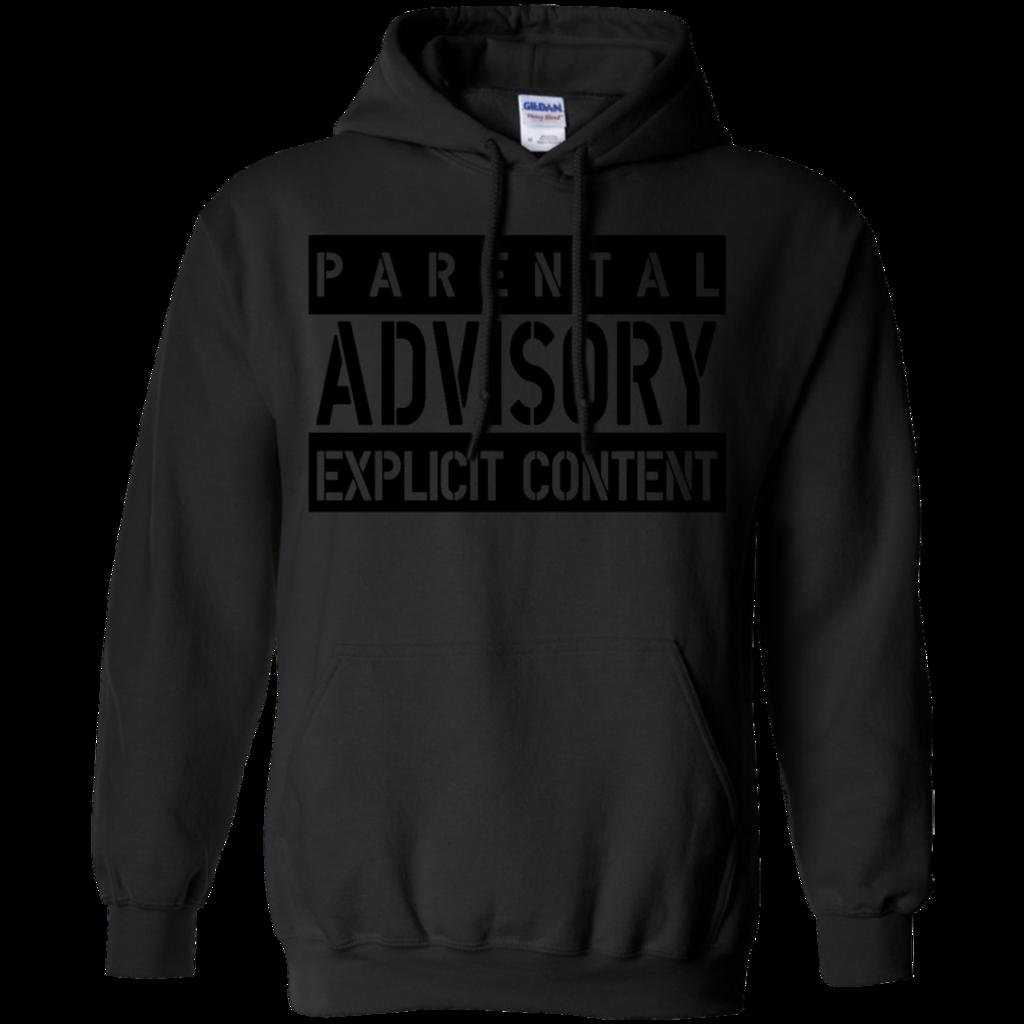 AGR parental advisory explicit W Gildan Pullover Hoodie