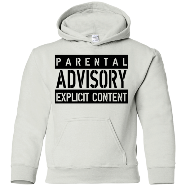 AGR parental advisory explicit W Youth Pullover Hoodie