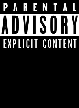 Parental Advisory Explicit Content Cool Rap Album Cover