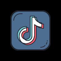 12+ Tiktok Icon Aesthetic Purple Pastel Images - Pastel Blue Snapchat Logo