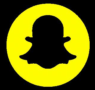 Snapchat Blue Logo Clipart PNG Transparent Background