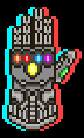 Tiktok Symbol Pixel Art