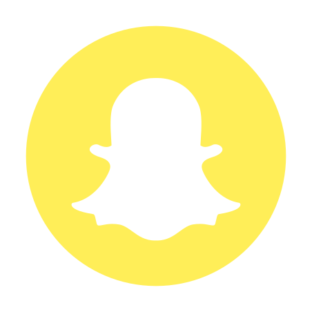 Logotipo de Snapchat Circled Icono