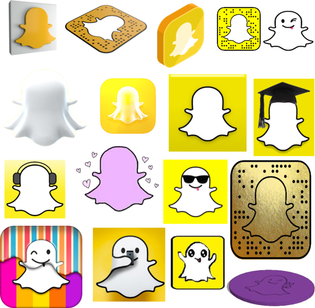 Snapchat Logo  Free Coloring Pages