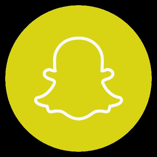 Circle outline snapchat socialmedia icon  Free download
