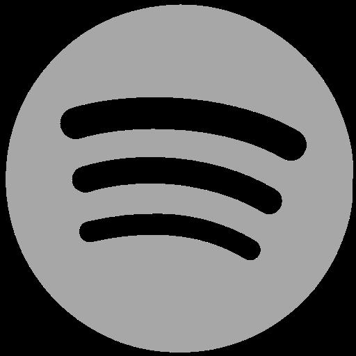Spotify social network Libero Icona di Social Grey Icons