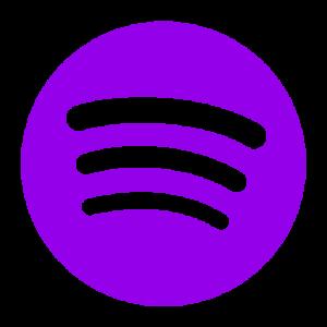 Purple Spotify icon png symbol