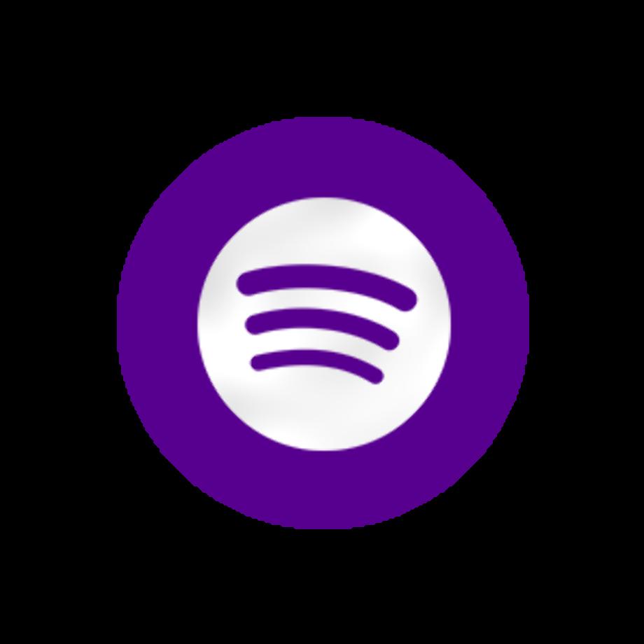 Download High Quality spotify logo transparent purple