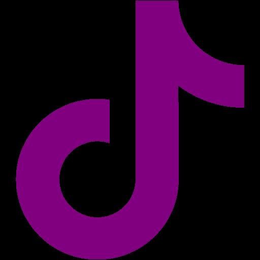 Purple tiktok icon  Free purple social icons