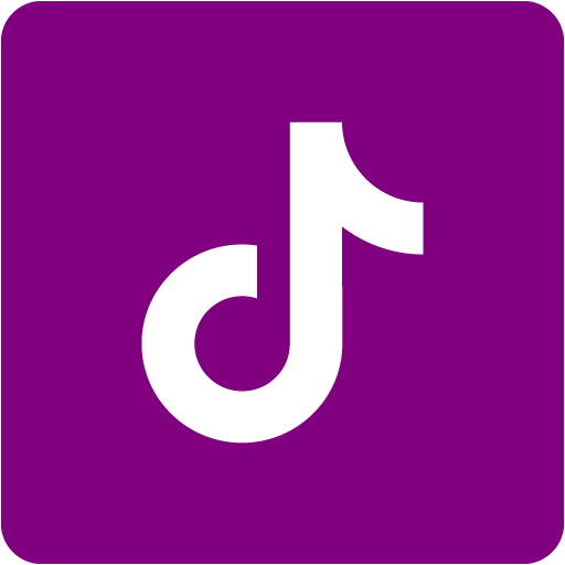 Purple tiktok 2 icon  Free purple social icons